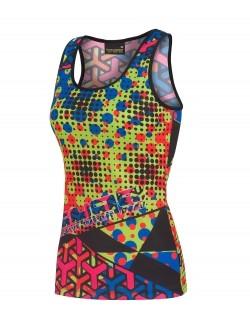camiseta tirantes running femenina
